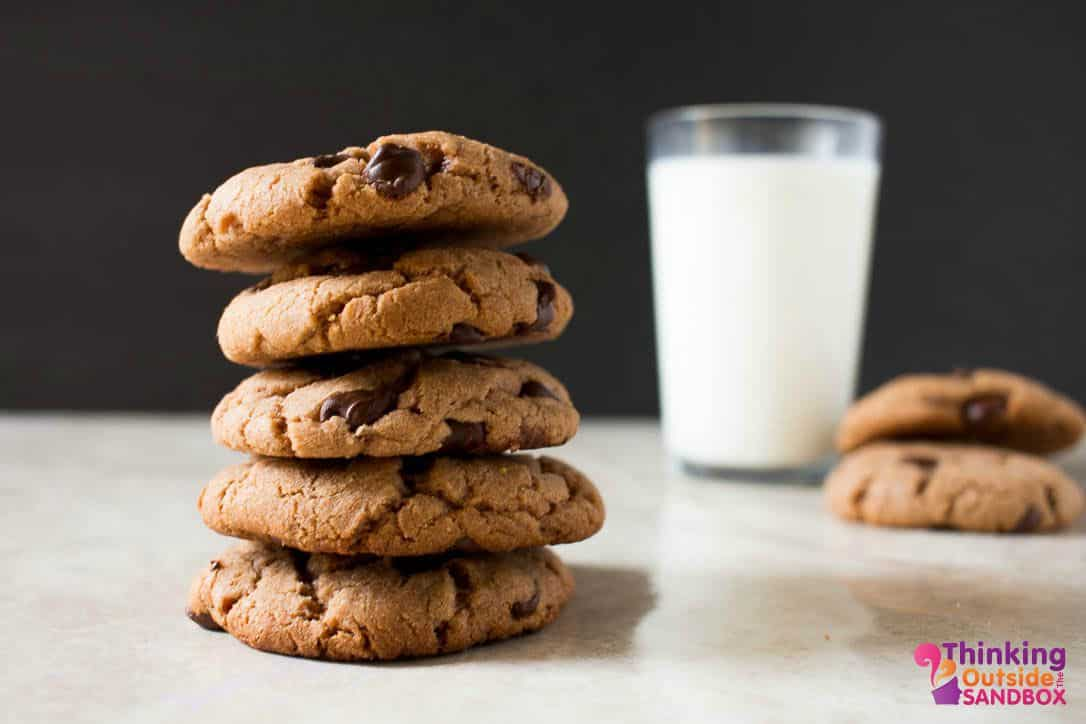 Chocolate Peanut Butter Cookie with banana