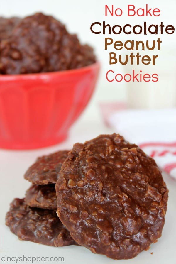 No Bake Chocolate Peanut Butter Cookied