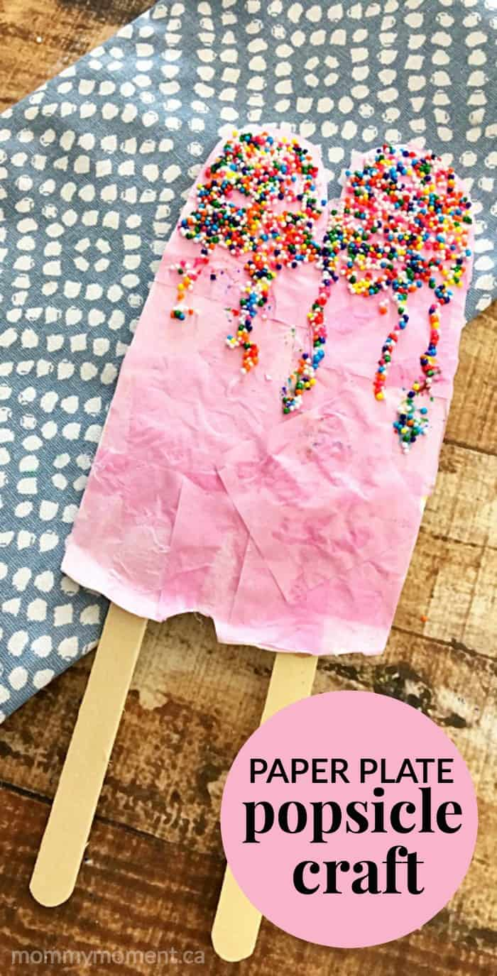 paper plate popsicle craft twin pops