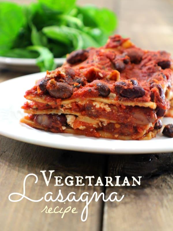 Vegetarian Four Cheese Lasagna Recipe — Dishmaps