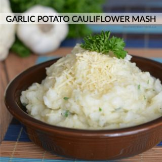 GARLIC POTATO CAULIFLOWER MASH
