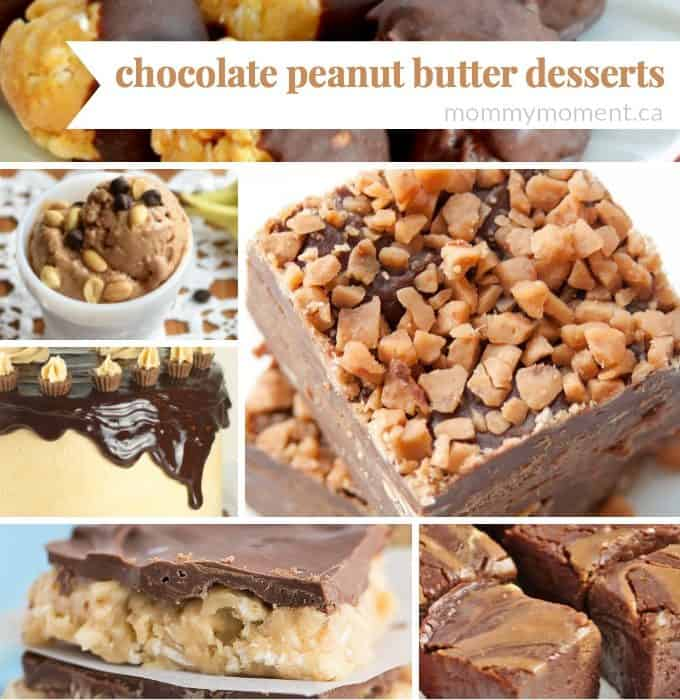 delicious chocolate peanut butter desserts