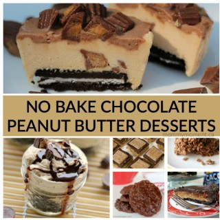 NO BAKE CHOCOLATE PEANUT BUTTER DESSERTS