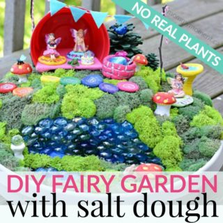 salt dough fairy garden