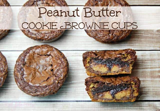 peanut butter chookie brownie cups