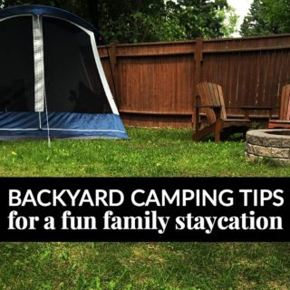backyard camping family staycation