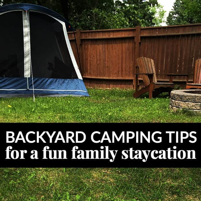 backyard camping family staycation