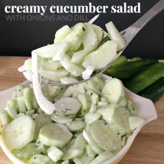 CREAMY CUCUMBER SALAD WITH ONIONS