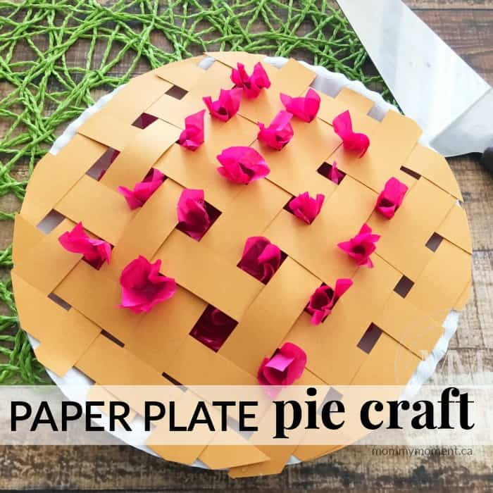 pie craft - a unique paper plate craft idea!