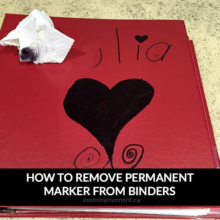 how to remove permanent marker from binders