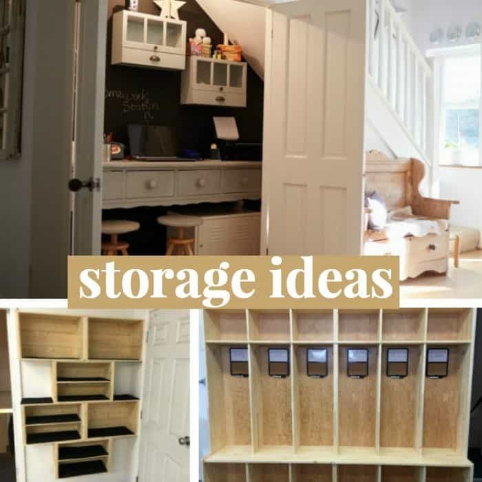 storage ideas for shoes and backpacks