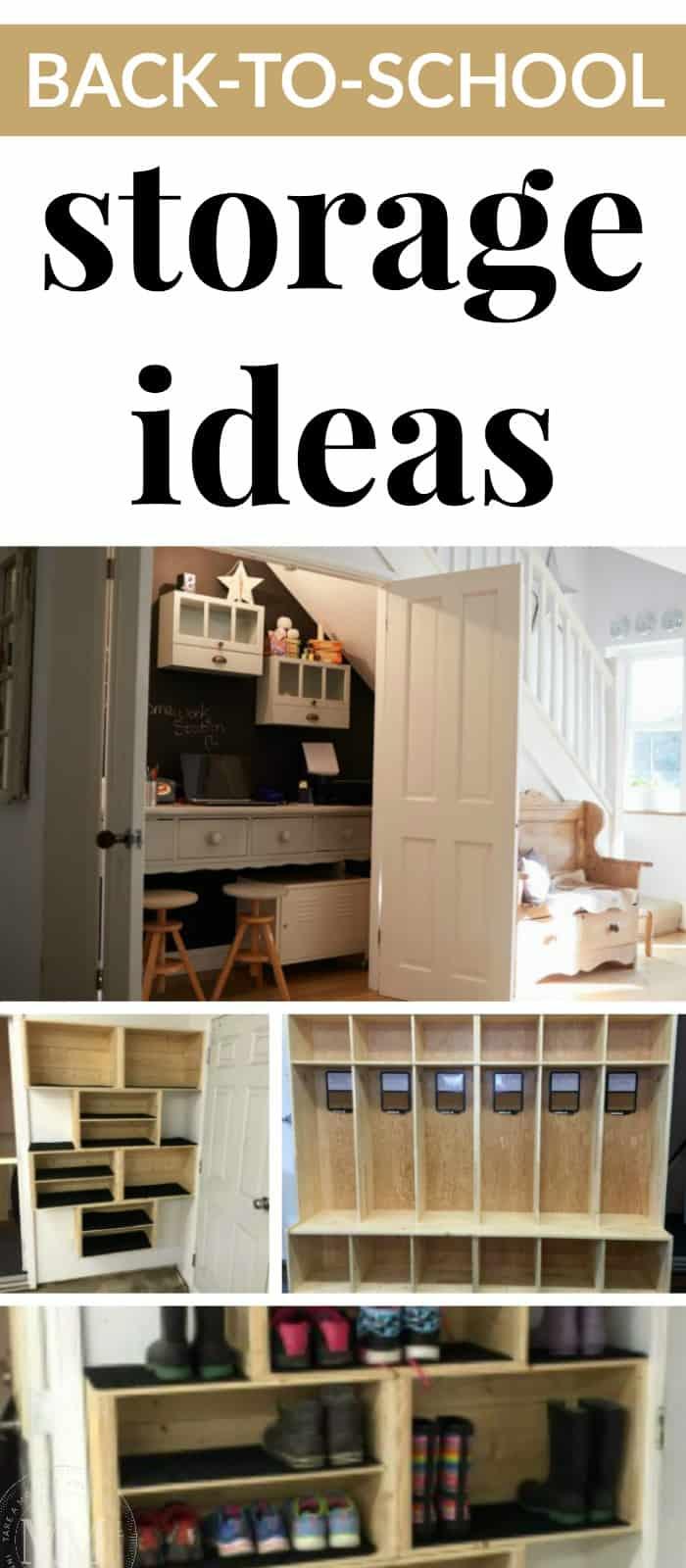 school storage ideas