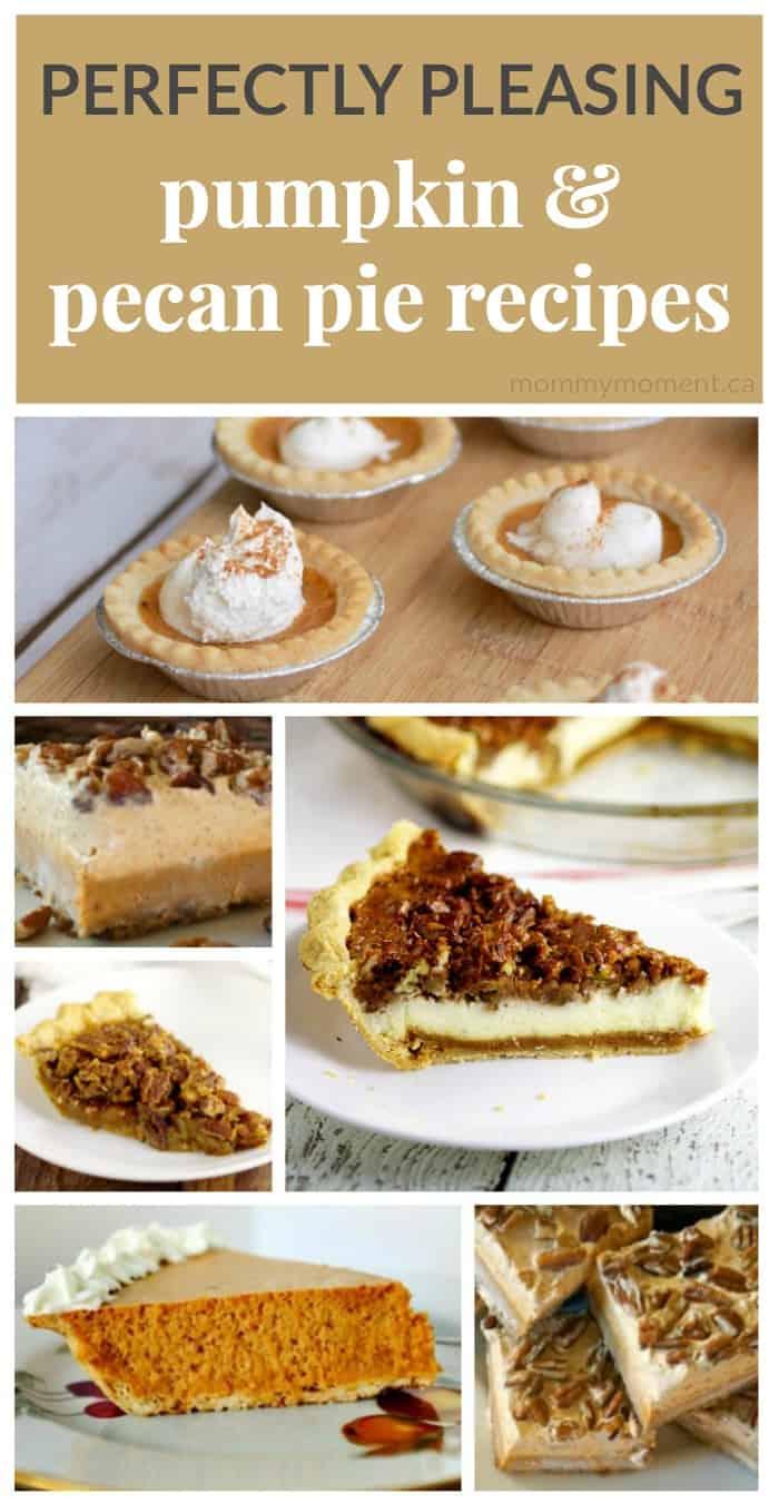 Pumpkin pie recipes and pecan pie recipes