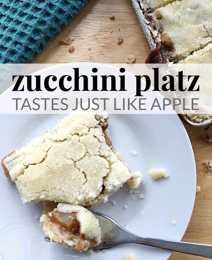 zucchini platz taste like apple