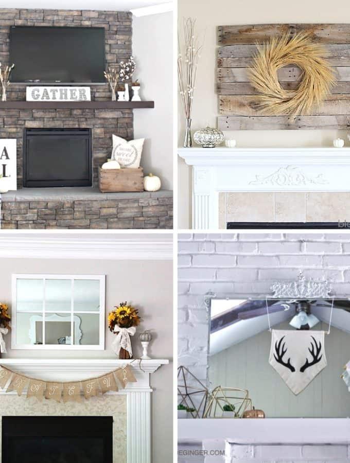 stunning fall mantel decor ideas on a budget