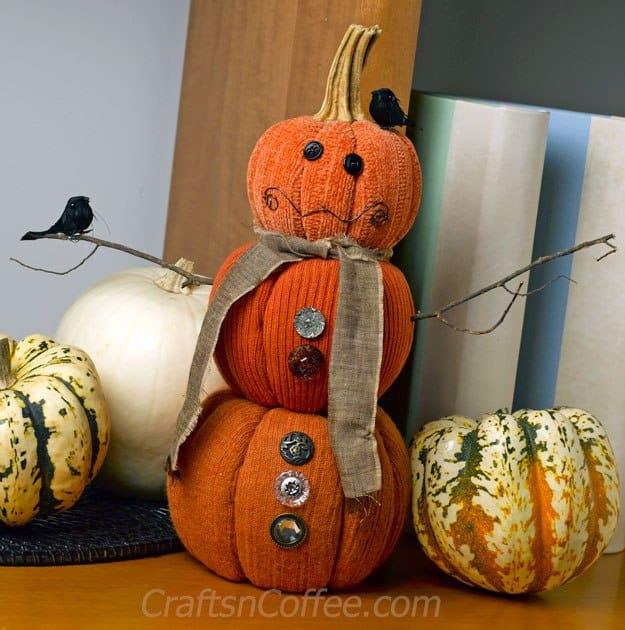 diy-pumpkin-snowman
