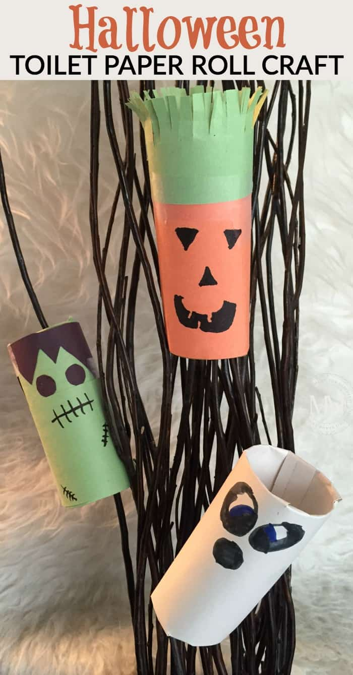Halloween toilet paper roll craft for kids