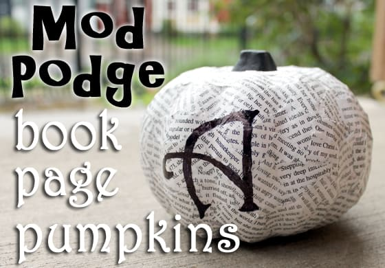 mod-podge-book-page-decoupage-pumpkins-with-initial-carissas-creativity-space
