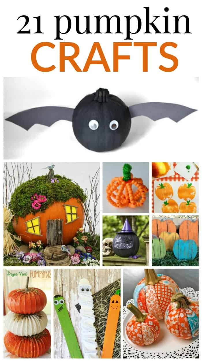 21 pumpkin crafts you will love to make this Fall.