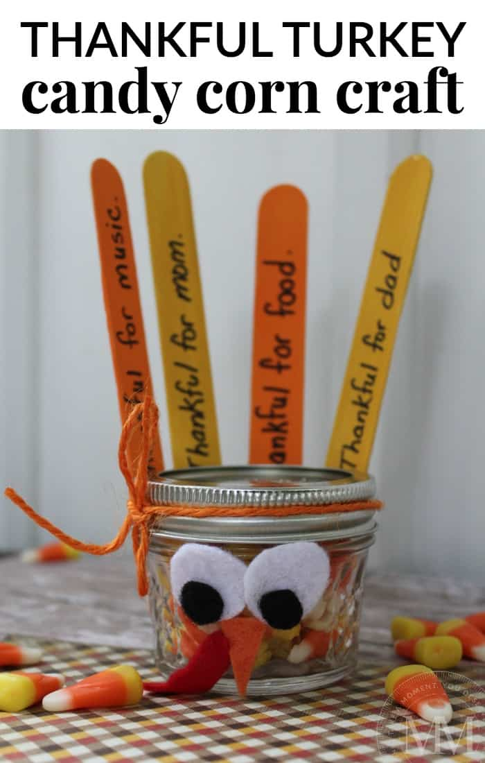 thankful turkey candy corn craft - so cute!