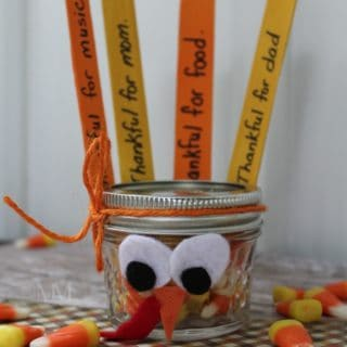 THANKFUL TURKEY CANDY CORN CRAFT
