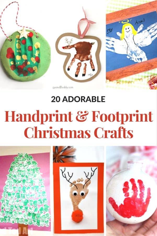 hanprint art for valentine's day - CHRISTMAS HANDPRINT AND FOOTPRINT CRAFTS Mommy Moment