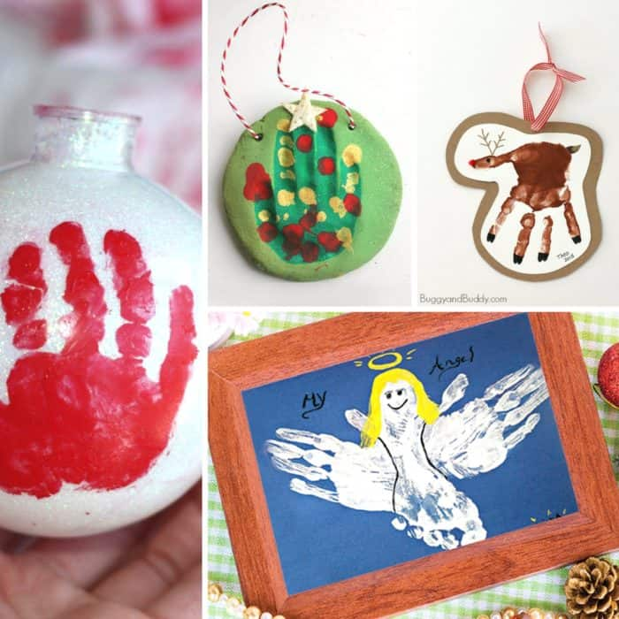 christmas handprint and footprint crafts mommy moment