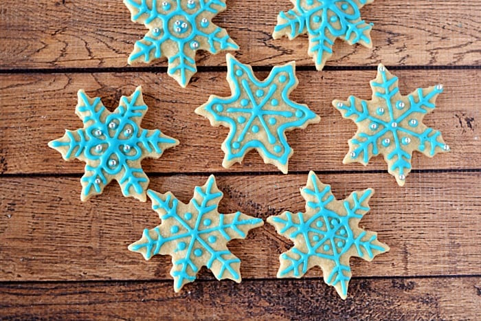 SNOWFLAKE SHORTBREAD COOKIE RECIPE