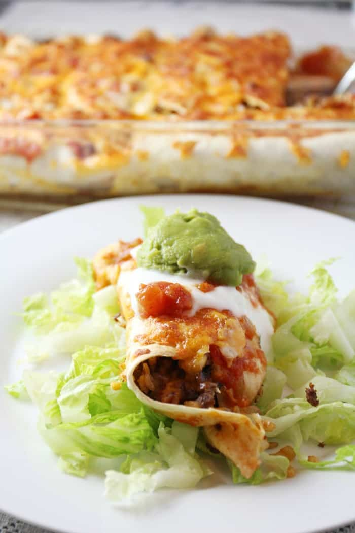 cheesy baked burritos recipe