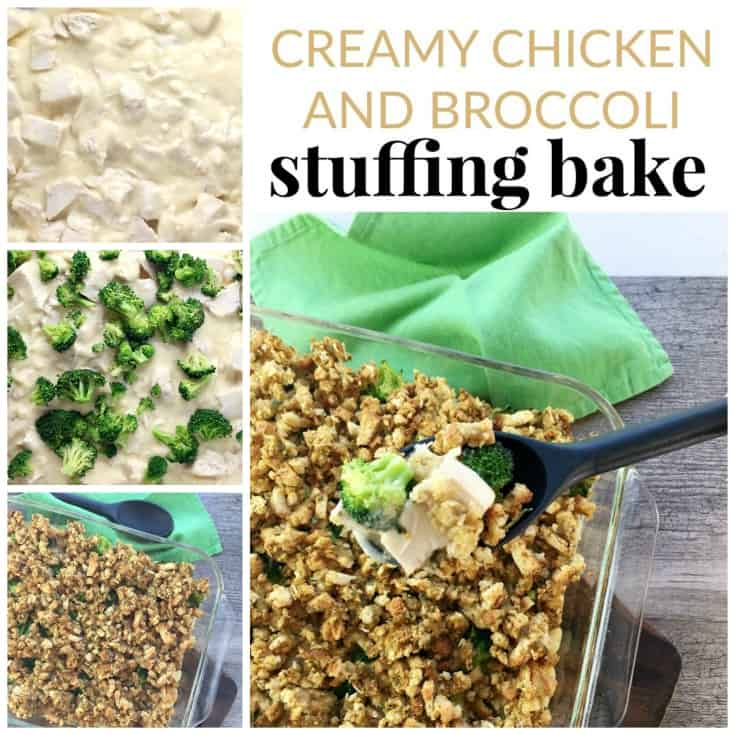 Creamy chicken and broccoli stuffing casserole