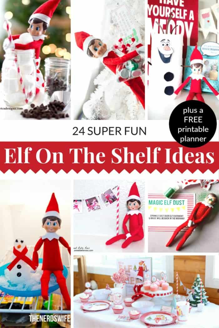 elf on the shelf ideas and a free printable planner!