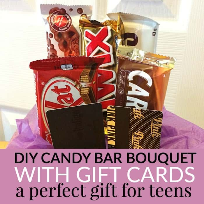 teen gift idea - candy bouquet