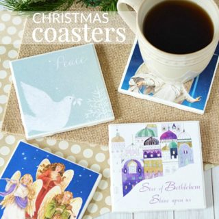 DIY CHRISTMAS COASTERS – RECYCLED CARD CRAFT