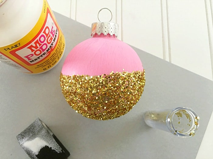 DIY Pink and Gold Christmas Ornament