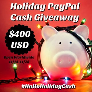 $400 HOLIDAY CASH GIVEAWAY