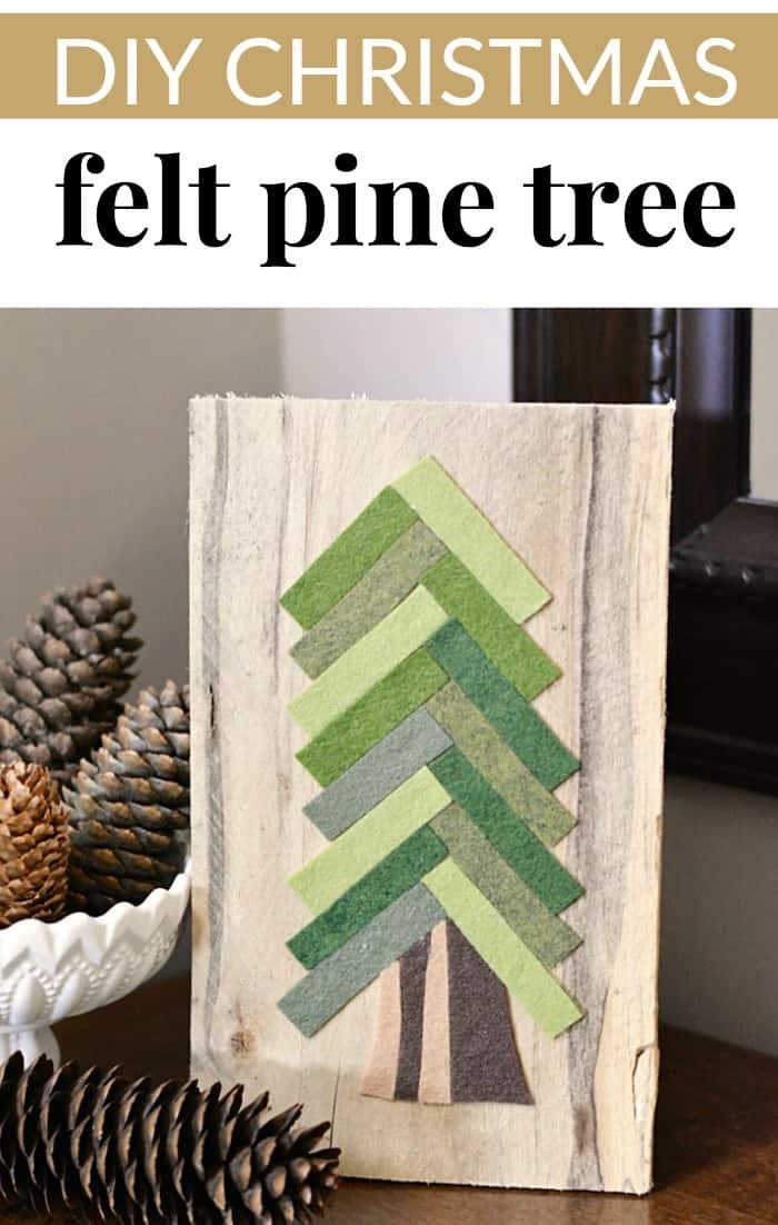felt pine tree craft