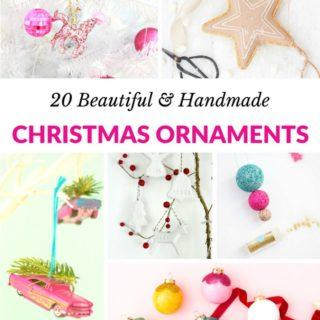 20 BEAUTIFUL HANDMADE CHRISTMAS ORNAMENTS