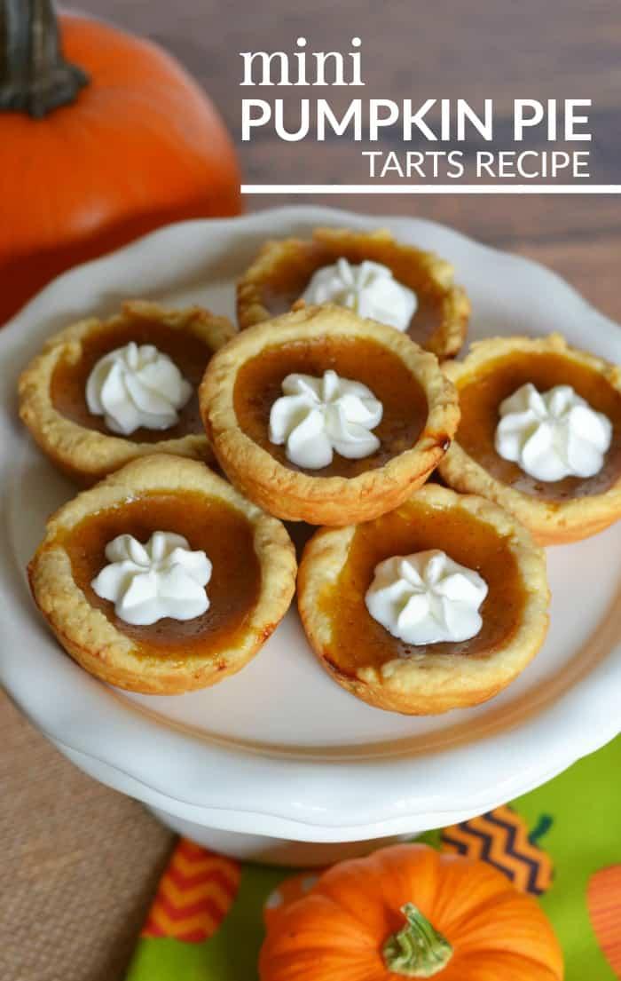 mini pumpkin pie tart recipe