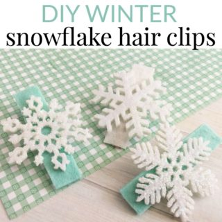DIY WINTER SNOWFLAKE HAIR CLIPS