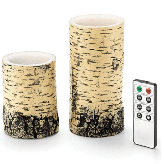 FAUX BIRCH LED CANDLES #31DaysOfGifts