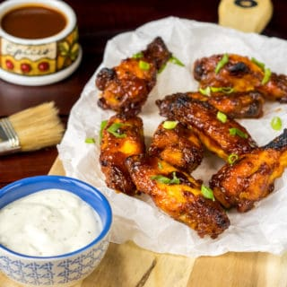 Honey BBQ Baked Chicken Wings