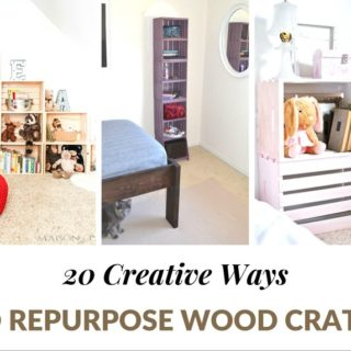 20 CREATIVE WAYS TO REPURPOSE WOOD CRATES