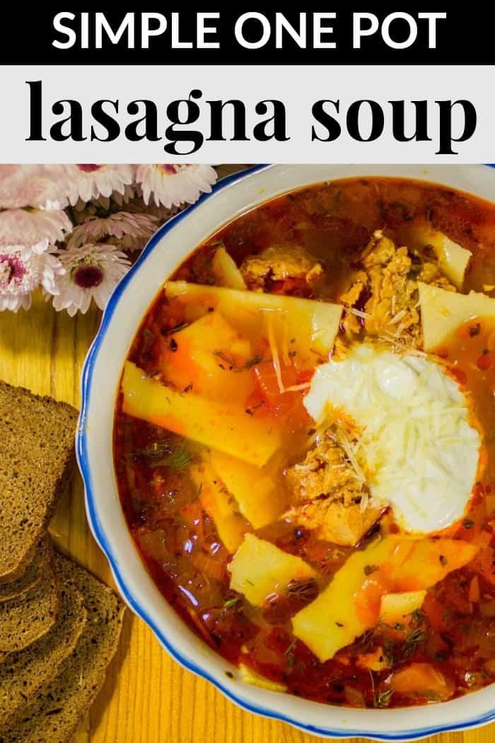 simple one pot lasagna soup recipe