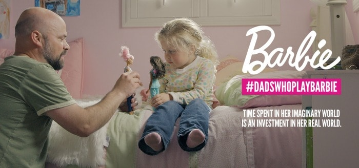 dads who play barbie challenge