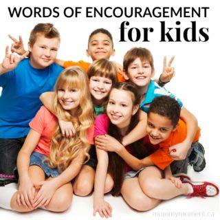 50 WORDS OF ENCOURAGEMENT FOR KIDS
