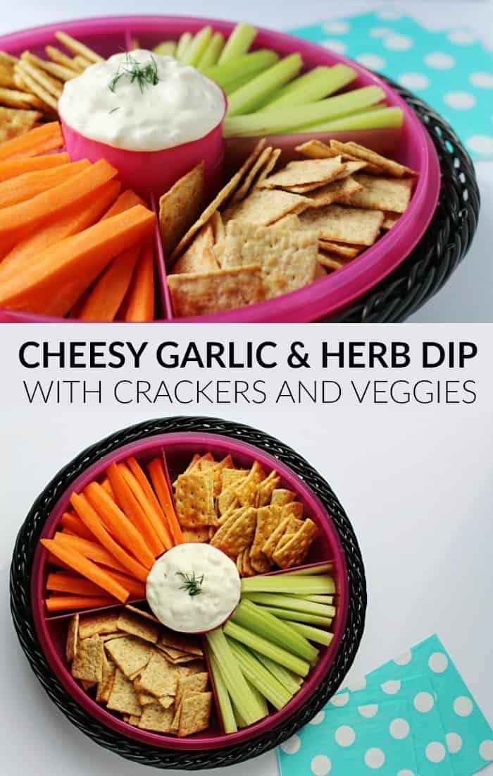 cheesy garlic herb dip