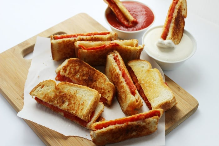 Pizza Grilled Cheese Sandwich Dippers