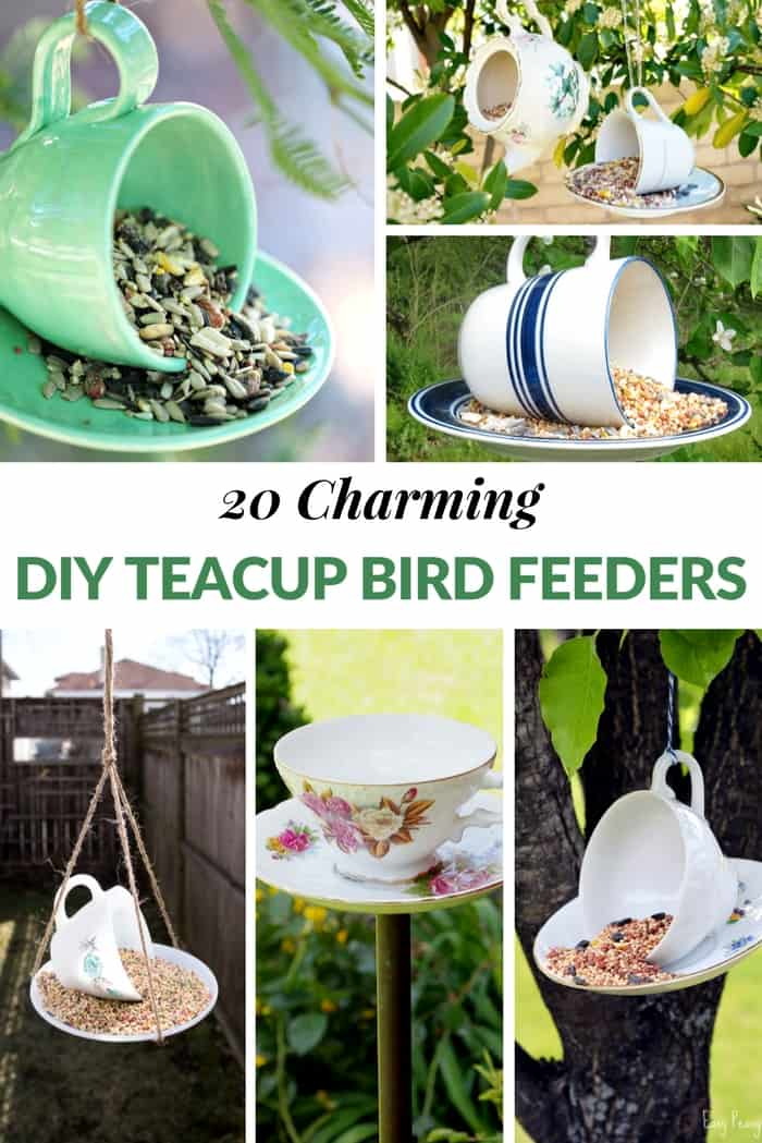 DIY Teacup Bird Feeders