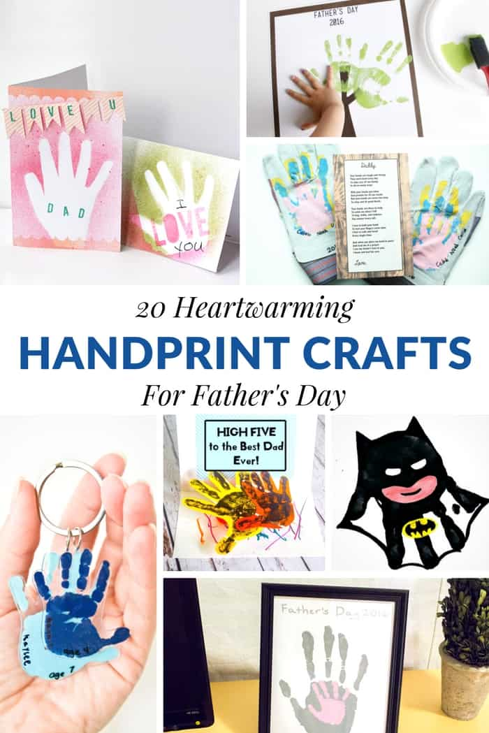 20 Heartwarming Handprint Crafts For Father S Day Mommy Moment