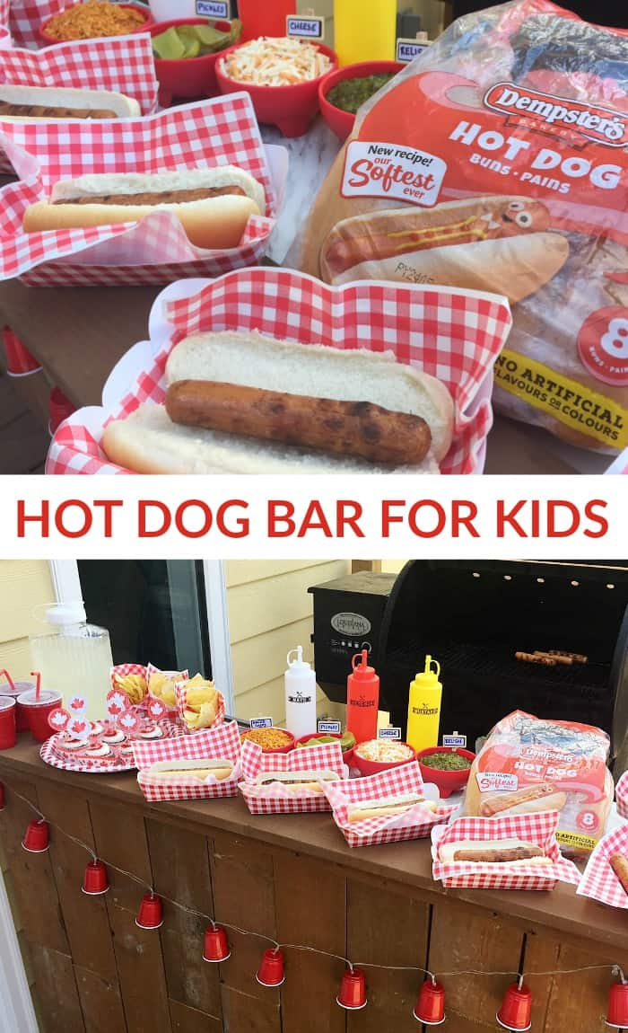 DIY Hot Dog Bar for Kids